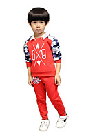 Boy Casual/Daily Print Sets,Cotton / Rayon Winter / Spring / Fall Long Sleeve Clothing Set