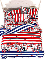Mingjie Wonderful Red Stripes Bedding Sets 4PCS for Twin Full Queen King Size from China Contian 1 Duvet Cover 1 Flatsheet 2 Pillowcases