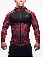 Men's Long Sleeve Running Sweatshirt Tops Breathable Thermal / Warm Stretch Softness Spring Fall/Autumn Sports WearCamping / Hiking