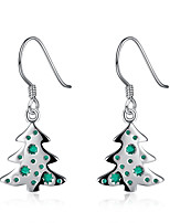 Women Christmas Gift The Christmas Tree Eardrop Ear Hook Earrings