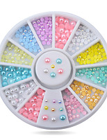 1pcs Mix Sizes Pearl Nail Art  Decoration Wheel Glitter Nail Rhinestone Decoration