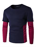 Sweatshirt Homme Décontracté / Quotidien Sportif Actif simple Lettre Col Arrondi Micro-élastique Coton Manches Longues Printemps
