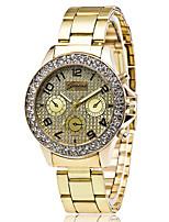 XU Neutral Luxurious Elegant Quartz Alloy Steel Belt Wrist Watch Diamonds Dress Watch