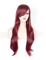 женщин способа красный цвет синтетические парики длинные прямые парики