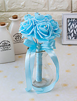 Wedding Flowers Round Roses Bouquets Wedding Party/ Evening Satin Foam 3.94