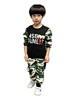 Boy Casual/Daily Print Sets,Cotton / Rayon Winter / Spring / Fall Long Sleeve Clothing Set