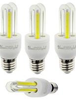YouOKLight 4PCS E27 3W 210lm 6000K 4-COB LED White Light Corn Lamp(AC85-265V)