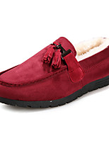 Men's Loafers & Slip-Ons Spring Fall Winter Comfort Suede Outdoor Office & Career Casual Flat Heel Black Blue Red