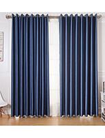 שני פנאלים טיפול חלון מודרני , מוצק חדר שינה פוליאסטר חוֹמֶר וילונות וילונות קישוט הבית For חַלוֹן