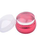 1PCS шаблон пластины урожденная дизайн ногтей тиснения изображений Стампер скребок розовый скребковые
