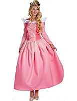 Cosplay Costumes Princess Queen Fairytale Movie Cosplay Pink Solid Dress Headwear Halloween Carnival Female Polyester