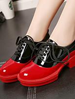 נשים-נעלי אוקספורד-עור פטנט-Others-אדום / לבן-קז'ואל