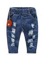 Boy Casual/Daily Solid Jeans-Cotton Fall