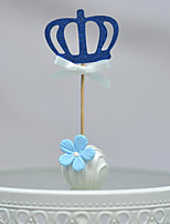 Blue Crown  Cake Top