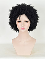 Women's Afro Kinky Curls Short Wigs Cornrows Crochet Jerry Curly Style Black Wig