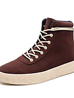 Men's Fashion Combat Boots Casual Snow Boots High Top Shoes Flat Heel Lace-Up EU39-43