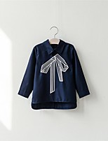 Girl Casual/Daily Solid Shirt,Cotton Fall Long Sleeve