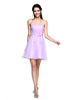 2017 TS Couture® Cocktail Party Dress - Mini Me A-line Sweetheart Short / Mini Tulle with Flower(s) / Draping / Ruching