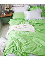 Solid Duvet Cover Sets 1 Piece Cotton solid Reactive Print Cotton Queen 1pc Duvet Cover / 2pcs Shams / 1pc Flat Sheet