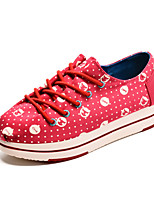 Women's Casual Sneaker Fashion Spring Fall Round Toe Canvas Casual Flat Heel Lace-Up