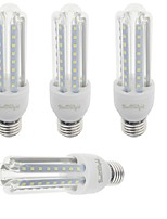 YouOKLight 4PCS E27 9W 750lm Warm White/White Light  48 SMD 2835 LED Corn Lamps (AC 85-265V)