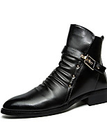 Men's Sneakers Spring / Fall Comfort PU / Tulle Athletic / Casual Flat Heel Lace-up Black / Red / White Walking / Sneaker