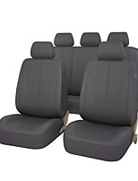 Pu Leather Universal Auto Car Seat Covers Black Gray Beige Color With 3 Zipper