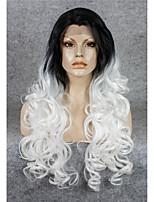 imstyle 26''popular волнистый трансвеститом белые синтетические кружева парики фронта высокой жары черный корень