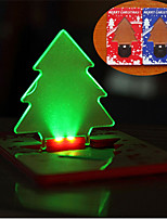 Christmas Tree Card Light  LED Portable Night Light Card Lamp Tree Shape Same Size As Credit Card In Wallet For Christmas Festival Art Decoration