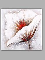 Handgemalte Abstrakt / Blumenmuster/Botanisch Ölgemälde,Modern / Klassisch Ein Panel Leinwand Hang-Ölgemälde For Haus Dekoration