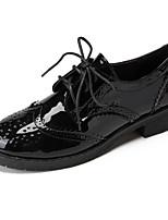נשים-נעלי אוקספורד-דמוי עור-נוחות-שחור / חום / לבן-קז'ואל