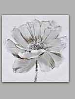 Peint à la main Abstrait / A fleurs/Botanique Peintures à l'huile,Classique / Modern Un Panneau Toile Peinture à l'huile Hang-peint For