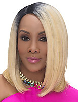 Short Ombre Black Blonde Synthetic Wigs Natural Cheap Hair Wig For Black Women