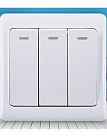 fluorescent triple contrôle 86 triple contrôle - - interrupteur mural de type triple ouverte à double