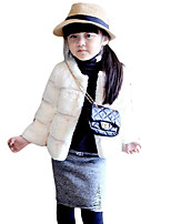 Girl Casual/Daily Solid Suit & Blazer,Cotton Winter Long Sleeve