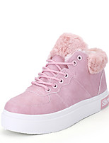 Черный Розовый Белый-Женский-Повседневный-СинтетикаУдобная обувь-Кеды