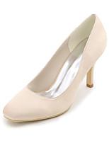 Feminino Sapatos De Casamento Plataforma Básica Primavera Verão Cetim Casamento Festas & Noite Salto Agulha Roxo Vermelho Azul Champanhe