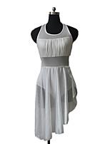 Dança Latina Vestidos Mulheres / Crianças Actuação Nailon / Licra 1 Peça Sem Mangas Vestidos / Malha Collant