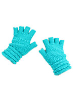 Note - Color Cyan Fashion Solid Color Jacquard Refers To Half Gloves