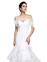 Women's Wrap Capelets Tulle Wedding Party/Evening Appliques