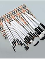 20 Conjuntos de pincel Escova de Cabelo de Cabra Cobertura Total / Portátil Madeira Rosto / Olhos / Lábios Outros