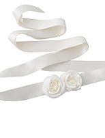 Satin Wedding / Party/ Evening / Dailywear Sash-Floral / Imitation Pearl Women's 98 ½in(250cm) Floral / Imitation Pearl