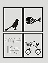 AYA DIY Wall Stickers Wall Decals Simple Life PVC Wall Stickers 40*30cmX4