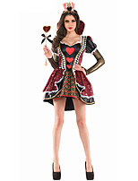 Cosplay Costumes Princess Queen Fairytale Movie Cosplay Red Solid Dress Halloween Carnival Female Polyester