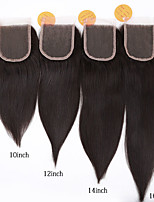 EVAWIGS Human Virgin Hair Natural Color 4x4 Lace Closure Natural Straight Hair Pieces