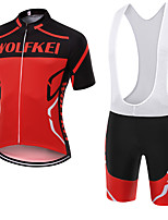 WOLFKEI Summer Cycling Jersey Short Sleeves BIB Shorts Ropa Ciclismo Cycling Clothing Suits #23