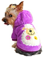 Cat / Dog Hoodie Red / Yellow / Green / Blue / Purple Dog Clothes Winter / Spring/Fall Cartoon Cute / Casual/Daily