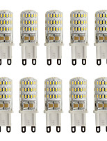 3W G9 Luces LED de Doble Pin T 45 SMD 3014 260 lm Blanco Cálido / Blanco Fresco Decorativa V 10 piezas