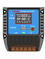 CMKU-2410 PWM 12/24V 10A LCD USB Temperature Compensation Battery Auto Regulator Solar Charge Controller With Complete Protections