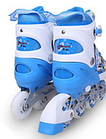 Children wearing in-line skates Single flash adjustable luminous rollerblading